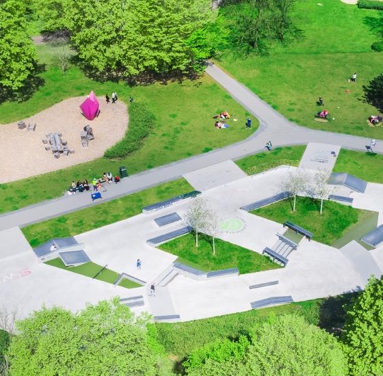 Skatepark Gießen nach Fertigstellung
