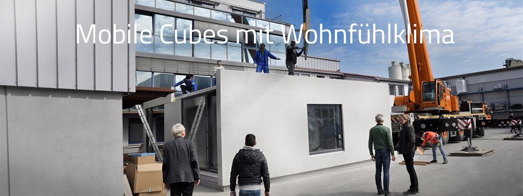 Mobile Cubes erweitern unsere Büroflächen